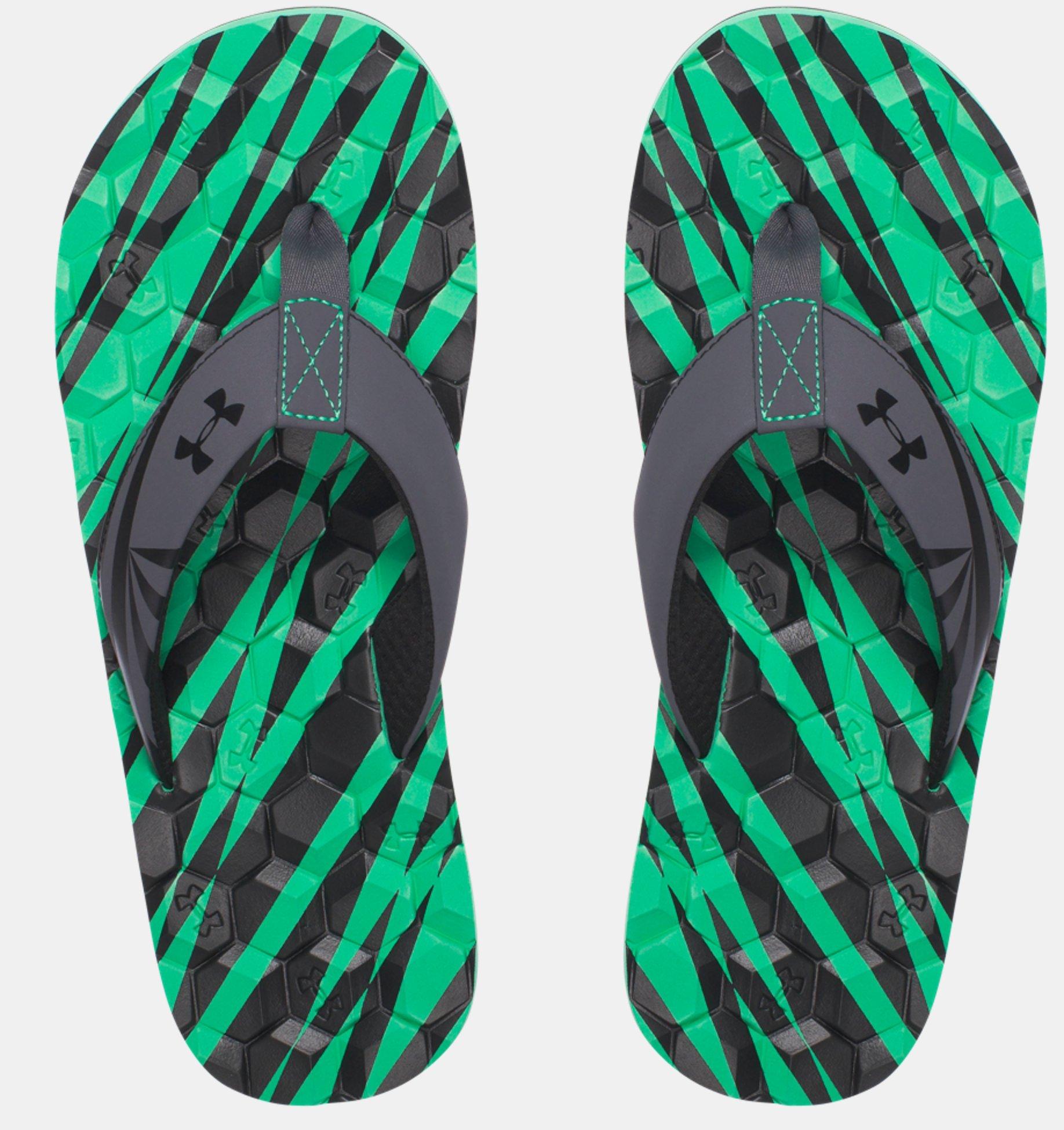 Žabky Under Armour Marathon Key II čierne zelené  2dc006c890f