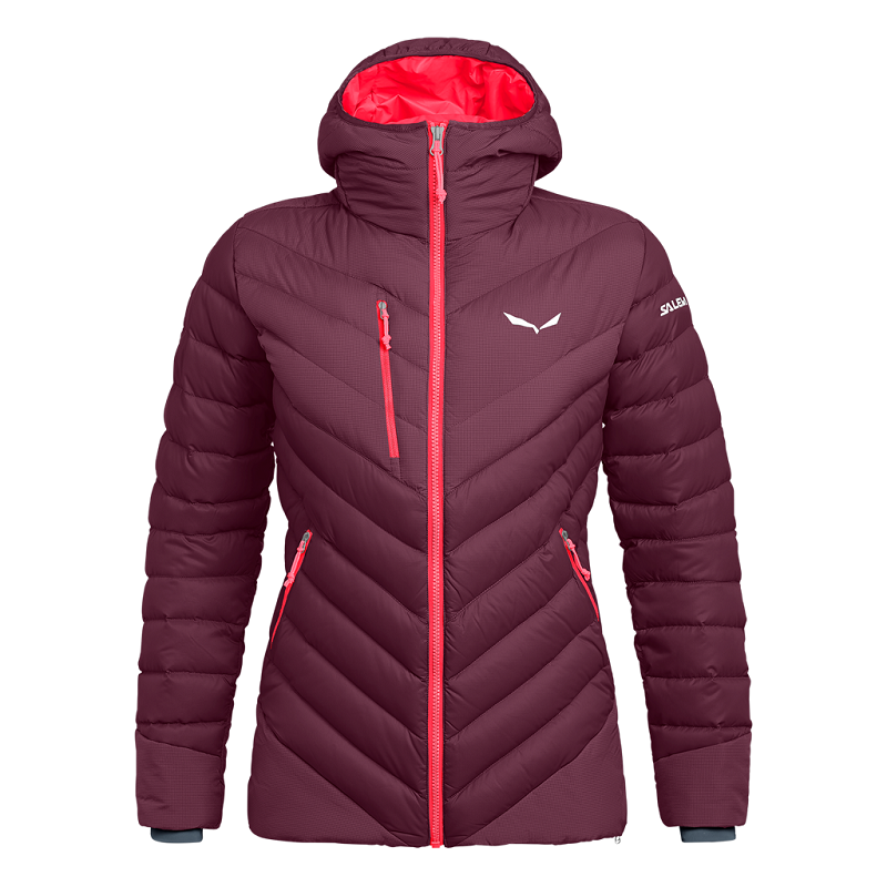 Salewa ORTLES MEDIUM 2 DWN W Jacket_rhodo red