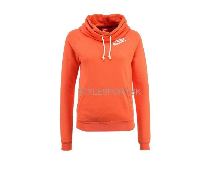 NIKE RALLY FUNNEL NECK HOODY, orange -30%