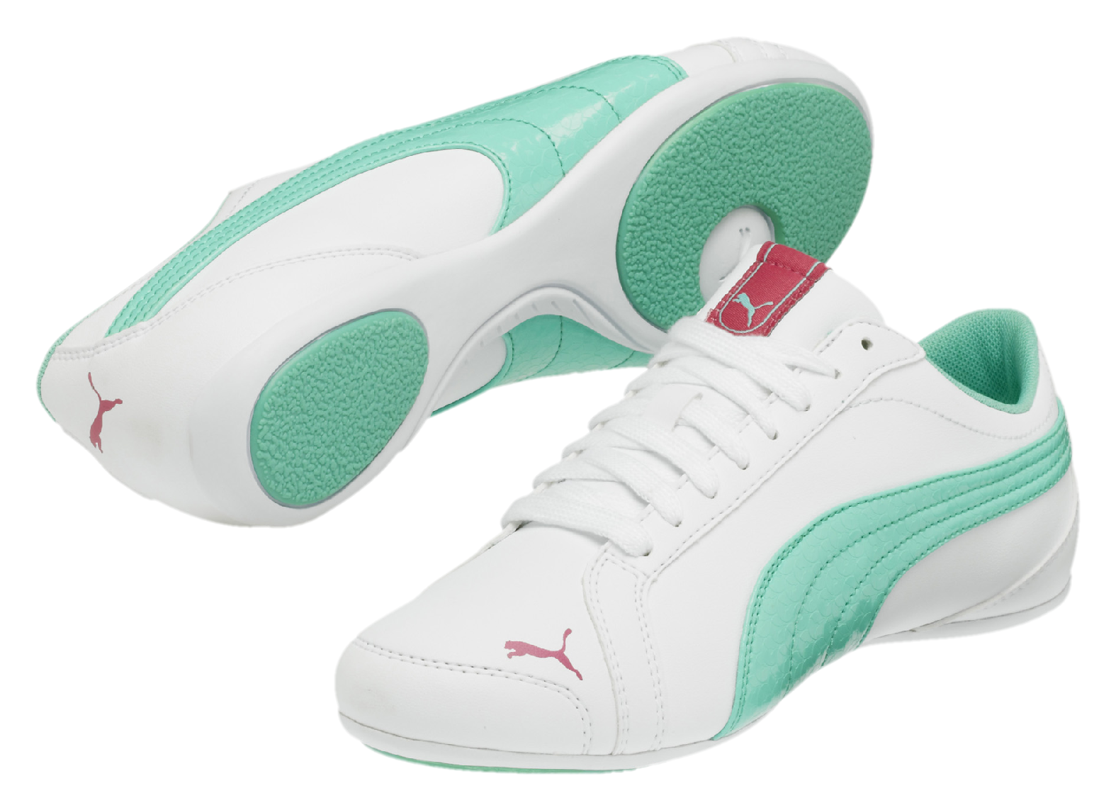 Puma JANINE DANCE whitw/green