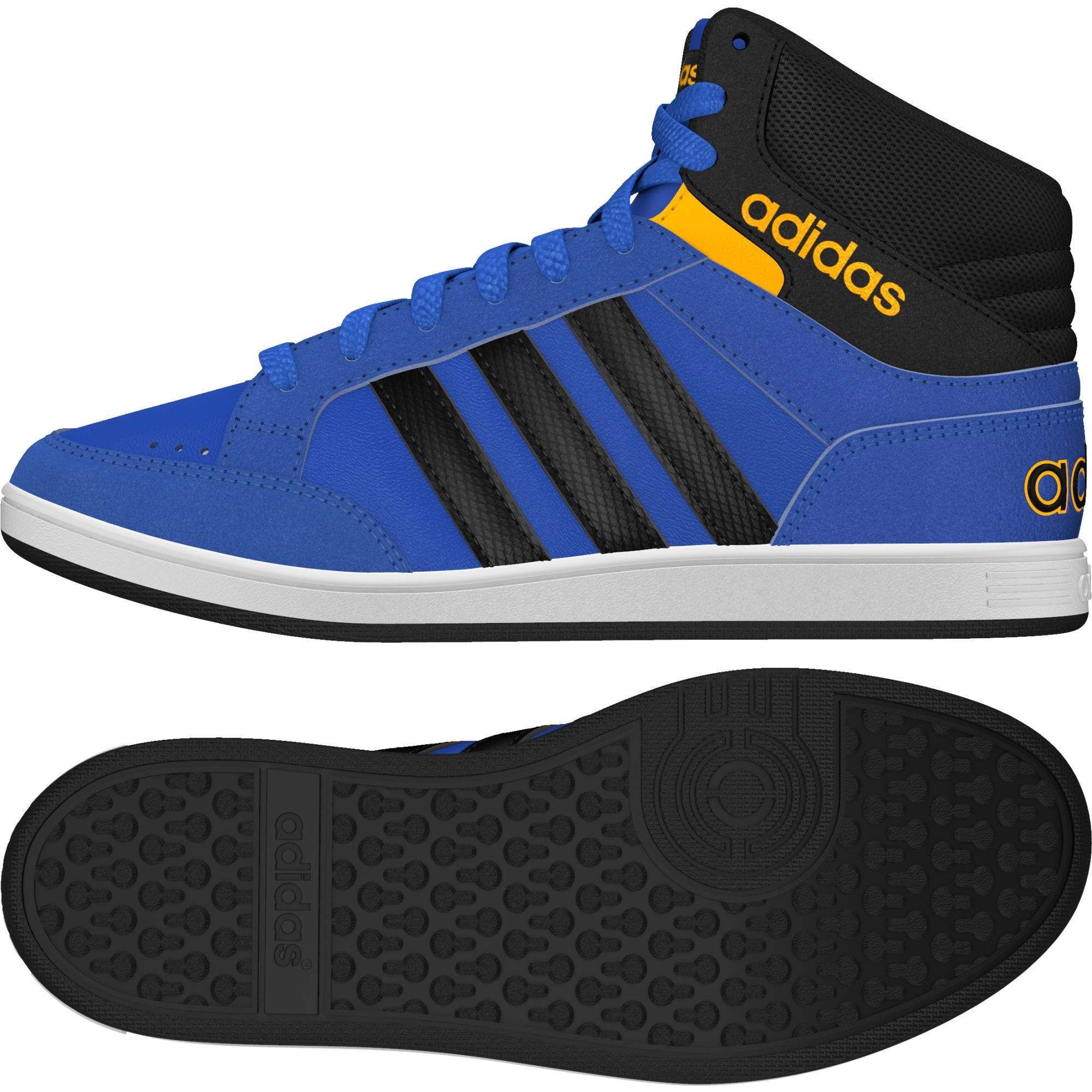 ADIDAS HOOPS MID K AW5134, modré