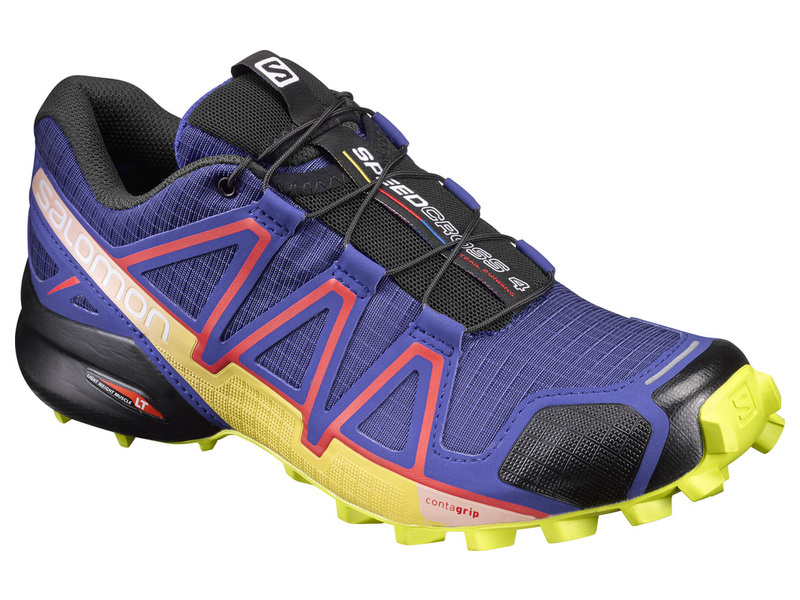 Obuv SALOMON SPEEDCROSS 4 W SPECTRUM BLUE/SULPHUR SPRING/FIERY RED - 30%