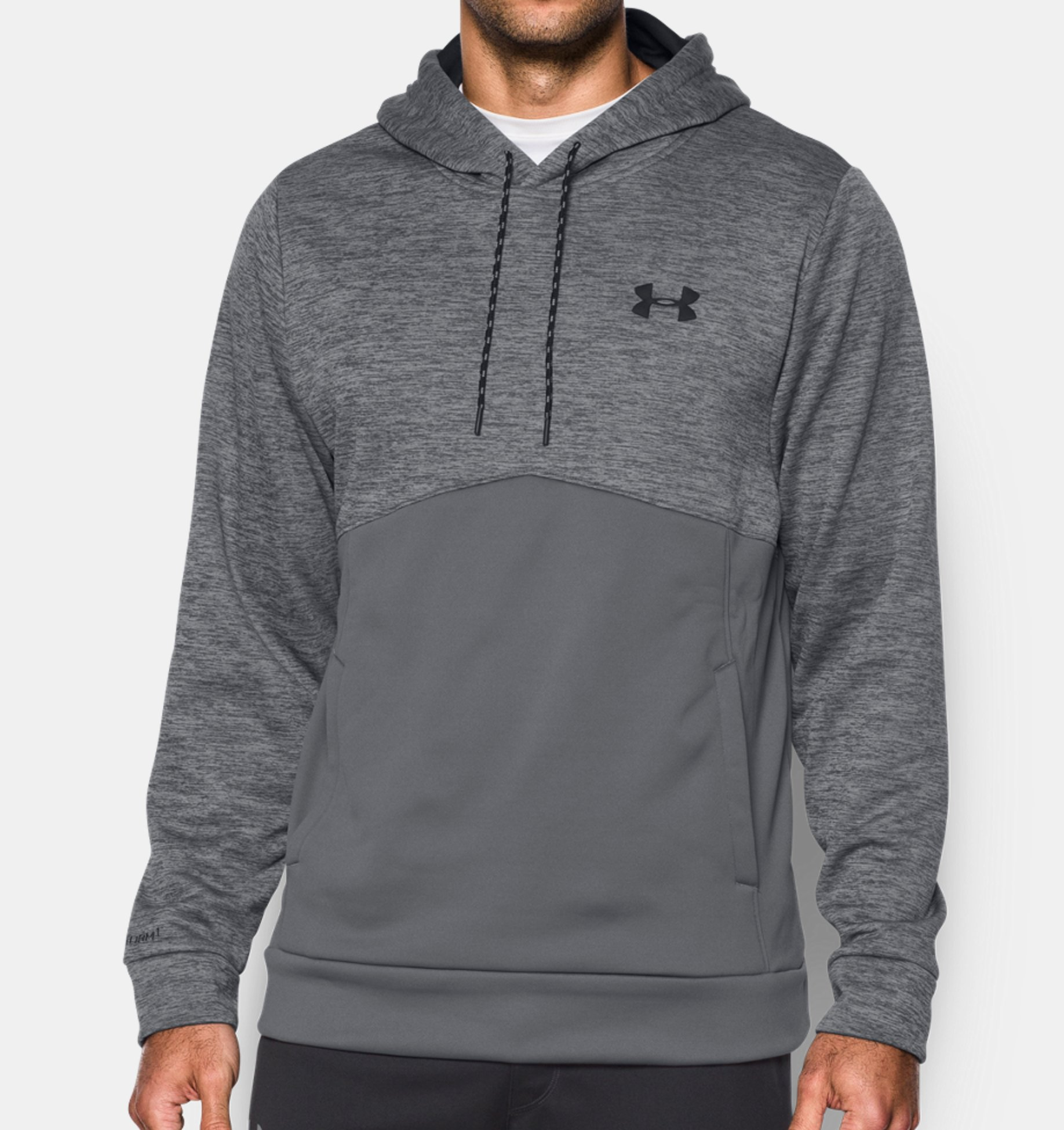 Under Armour Storm Fleece Twist Hoodie, karbónová