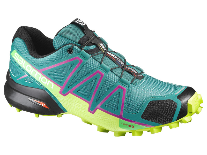 Obuv SALOMON SPEEDCROSS 4 W DEEP PEACO/LIME PUNC -20%