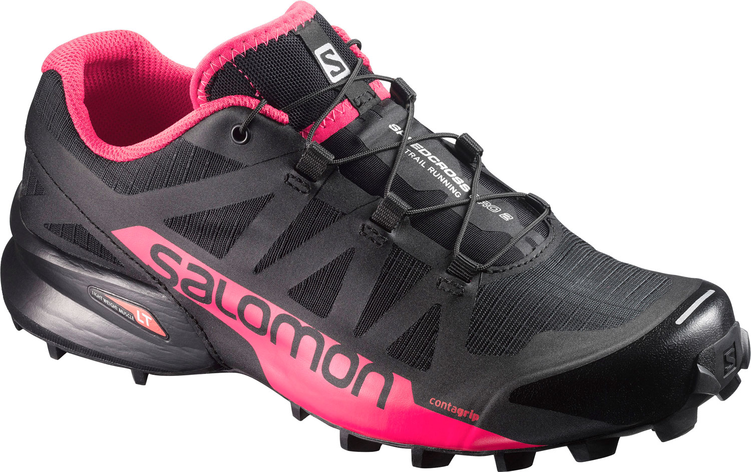 SALOMON SPEEDCROSS PRO 2 W - BLACK/VIRTUAL PINK