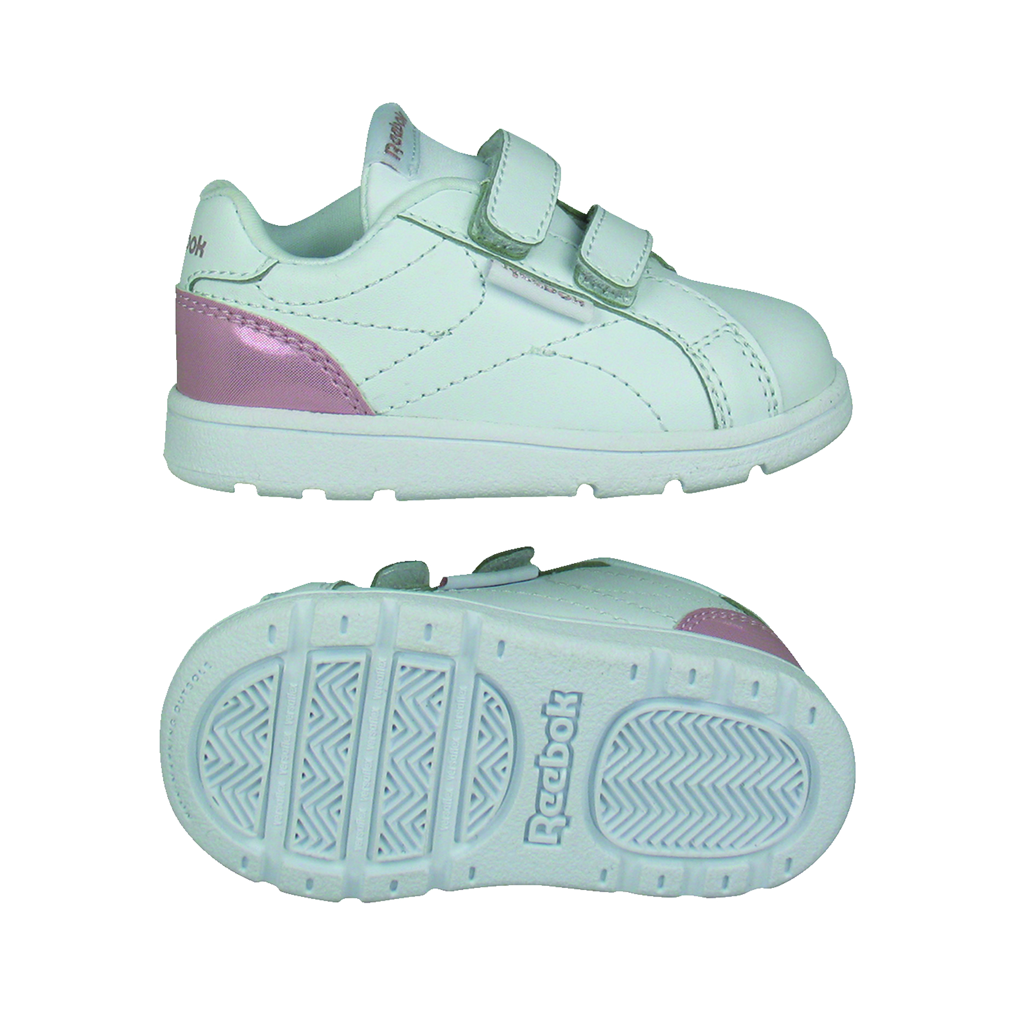 REEBOK ROYAL COMPLETE CLEAN, WHITE/PINK