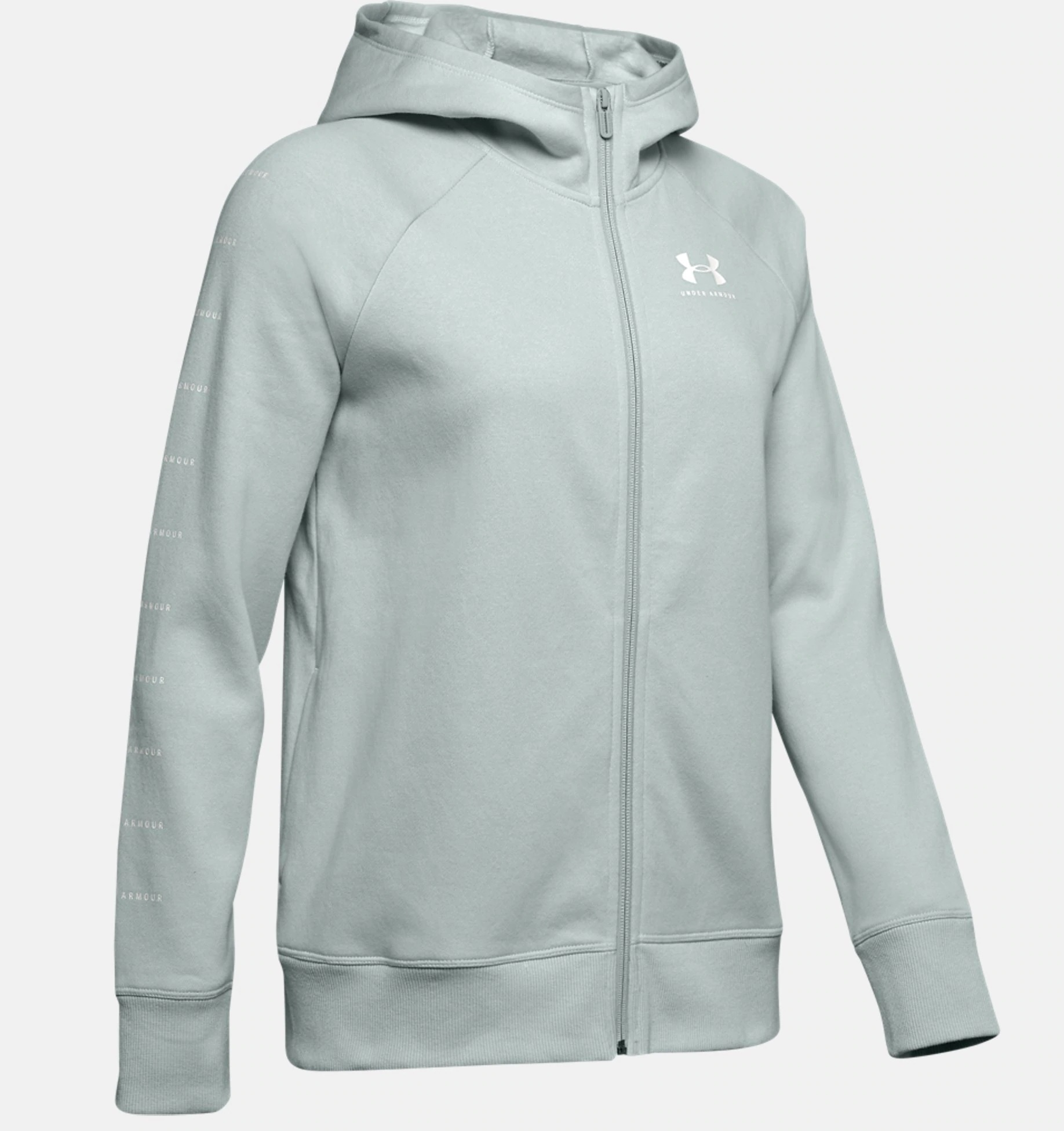 Mikina Under Armour Rival Fleece_mint