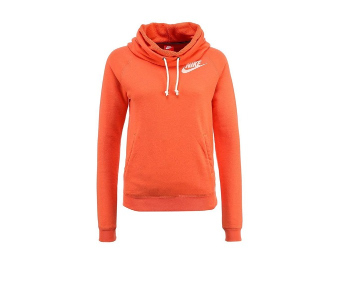 NIKE RALLY FUNNEL NECK HOODY, orange