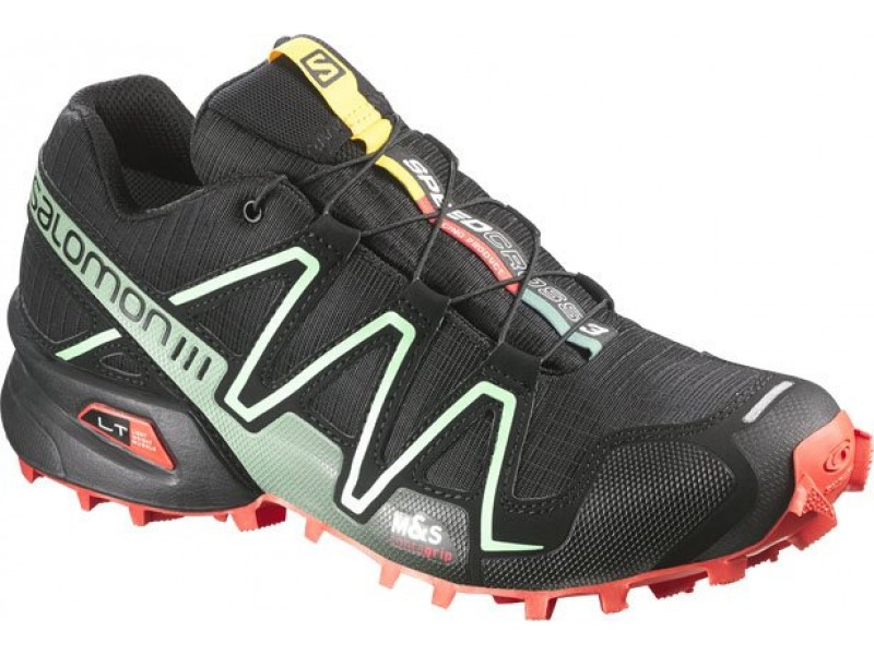 Salomon SPEEDCROSS 3 W -  black/nectarine/lichen green