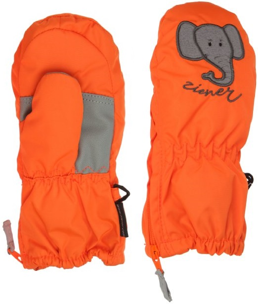 ZIENER LE ZOO minis gloves, orange
