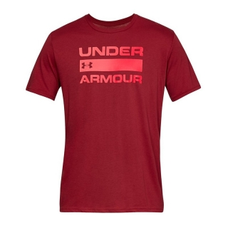 Under Armour Issue Wordmark, červené tričko