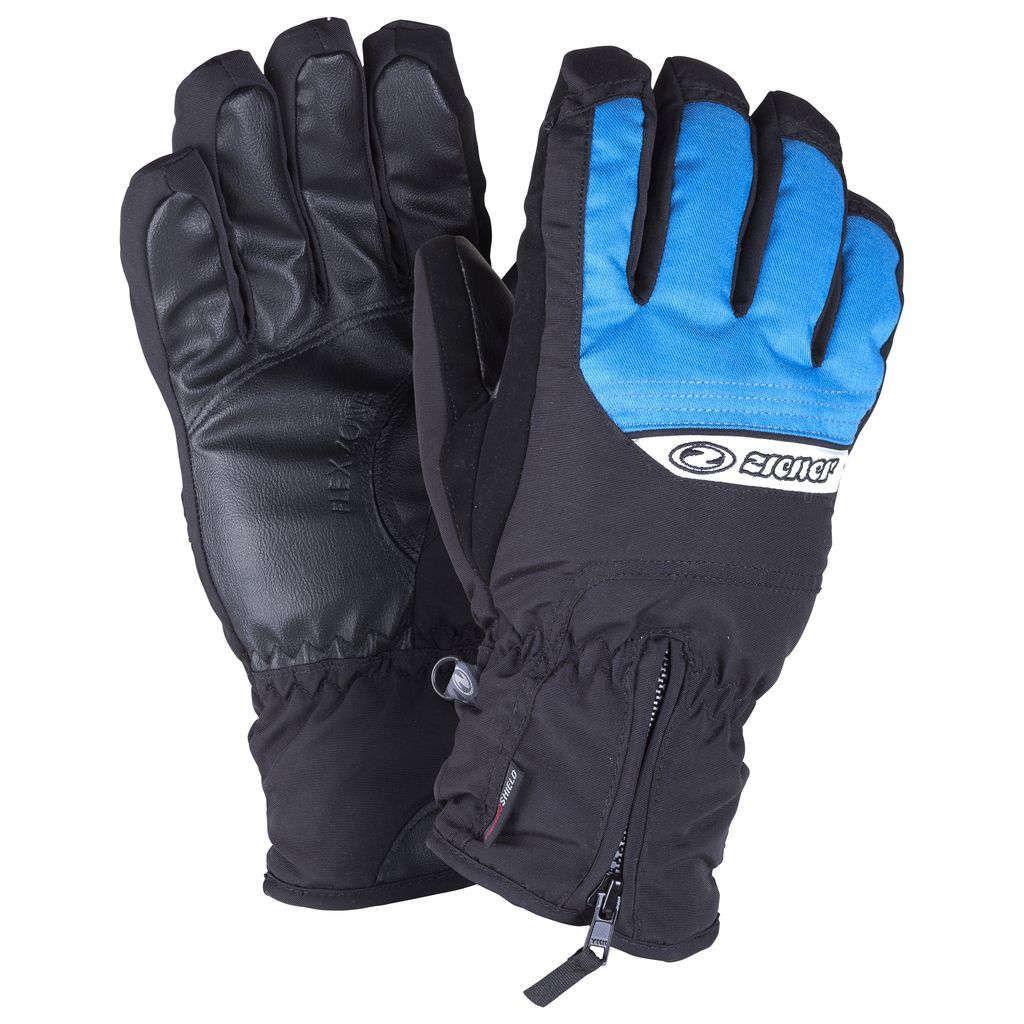 ZIENER GALLUS glove ski alpine, black/blue (Zimné rukavice)