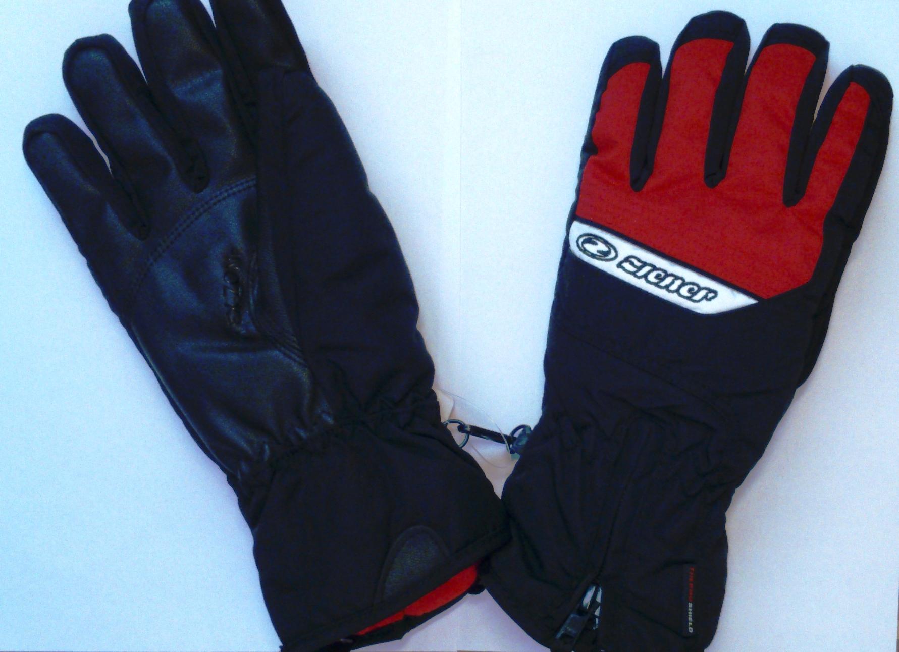 ZIENER GALLUS glove ski alpine, black/red (Zimné rukavice)